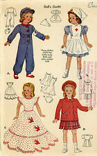 Vintage Doll Clothes PATTERN 1015 for 15 in Little Lady Dolls by Effanbee
