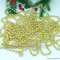 24ft Gold Hanging Bead Garland Christmas Tree Xmas Party Decoration Chain