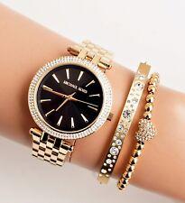 Original Michael Kors Uhr Damenuhr MK3738 DARCI Mini Edelstahl Gold/Schwarz NEU!