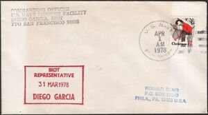 B.I.OT.1978. Cover Navy Support FPO 96685,