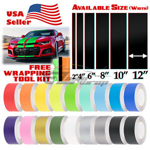 Matte Color Racing Stripes Vinyl Wrap Sticker For Chevy Camaro Stripe 10FT /20FT