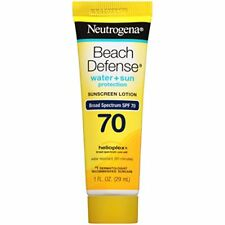 Neutrogena Beach Defense Sunscreen Lotion Broad Spectrum SPF 70, 1Fl. Oz/ 3 Pack