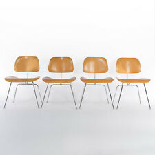 DCMs (4 X) Eames Oak Herman Miller Vintage Original Molded Plywood Dining Chairs