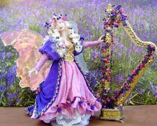 La fée harpiste ~ Handcrafted échelle 1/12th miniature par ANGELIQUE miniatures!