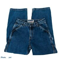 "OLD NAVY Women's ""MOM"" Blue Jeans Sz 12 Painter's Pockets 100% Cotton"