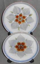 Set (2) Denby CHATSWORTH PATTERN Dessert/B&B Plates ENGLAND