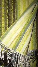 Wollplaid, Couchdecke, Überwurf, Gewebt 130x180 cm Grün