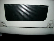 Sun Visor (Carbon Fiber) cover warning label decals vinyl sticker overlay (D)