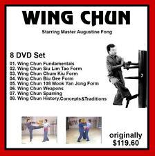 WING CHUN KUNG FU 8 DVD set Augustine Fong like jeet kune do instructional
