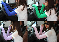 Newfangled 20 Colors Women Arm Nice Cotton Long Cool Fingerless Gloves Hot Sale
