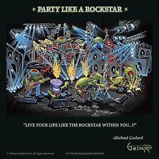 MARTINI ART PRINT Party Like A Rockstar Michael Godard