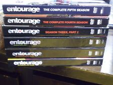 (6) Entourage Season DVD Lot: Seasons 1, 2, 3 (Part 1 & 2), 4 & 5  w/Slipcovers