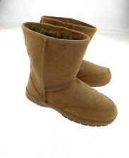Besso Short Shaft Boots Women's Brown Faux Suede & Fur Eur 37 US 6-6.5