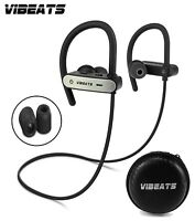 VIBEATS Bluetooth Wireless Headphones Sport Running Earphones IPX 7 Waterproof