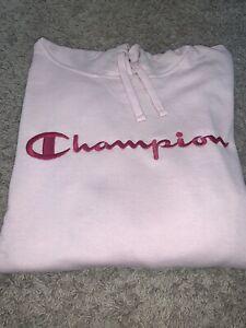 NWT Women's Champion Pink Hoodie Fleece Sweatshirt Size XLARGE, XXLARGE 2XL