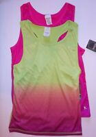 Danskin Now Girls Fitted Moisture Wicking Tank Tops Lot Of 2 Size 7/8 OR 14/16
