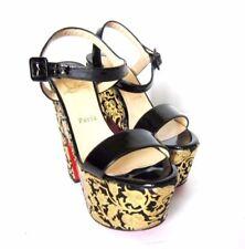 Zapatos de tacón de mujer negro Christian Louboutin de charol