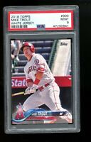2018 Topps #300 Mike Trout White Jersey Los Angeles Angels PSA 9 MINT!