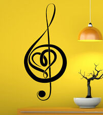 Music Wall Decal Vinyl Sticker Music Notes Treble Clef Interior Art Decor (2mu6)