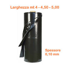 Teli telo pacciamatura nero polietilene plastica pacciamante anti erba sp 0,10mm