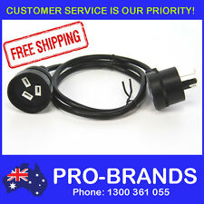 1-Metre Power Extension Lead 1mm Cord Cable Wire Piggy Back Black 1M Piggyback