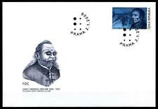 Inventor Blind writing Louis Braille. FDC. Czech Republic 2009