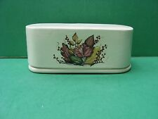 COLORFUL AUTUMN LEAVES  CERAMIC  BUTTER   DISH..  FREE SHIPPING   MADE  IN  USA