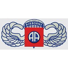US ARMY 82ND AIRBORNE DIVISION STICKER WITH AIRBORNE WINGS - MADE IN THE USA!!