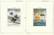Andorra: 1992; 2 Special Souvenirs Sheet olympics Barcelona, MNH, EBSP025