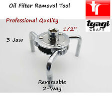 """Professional 1/2"""" inch Oil Filter Wrench 3 Jaw Adjustable Universal Remover Tool"""