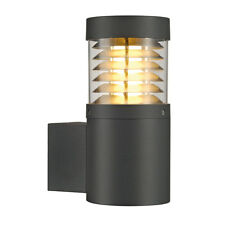Intalite exterior IP54 F-POL wall light, round, anthracite, E27, max. 20W, IP54