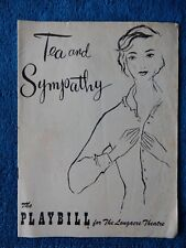 Tea And Sympathy - Longacre Theatre Playbill - March 7th, 1955 - Mary Fickett