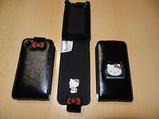 HELLO KITTY Tasche Schwarz Etui Case Ledertasche Hülle Apple iPhone 3 3G 3GS OVP