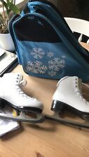 Iceskating Boots White With Carry Bag And Accessories Size 3