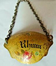ancienne plaque émaillée Rhum  bouteille label bottle enabled