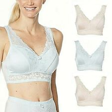 Rhonda Shear 3-pack Pin-Up Bra with Lace Back Detail 730-630 Size L - 1D_05e
