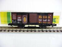 Minitrix N 1:160 13645 Gedeckter Güterwagen Bananen - 2-achsig mit OVP