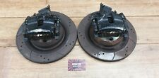 JAGUAR S TYPE R V8 SUPERCHARGED REAR BRAKE CALIPERS & DRILLED / GROOVED DISCS