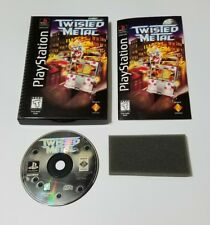 Twisted Metal Longbox (Sony PlayStation 1, PS1, 1995) Complete CIB- Tested