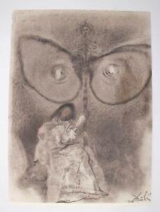 """Salvador Dali Litho """"Antequam exires de vulva sanctificavi te"""" Biblia Sacra 1967"""
