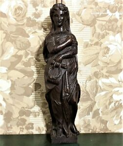 18 th victory Lady carving corbel bracket Antique french architectural salvage