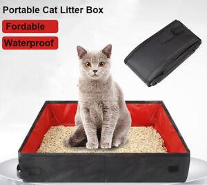 Cat Litter Box Mat Portable Kitty Hammer Multi-cat Clumping Fresh Clean Black