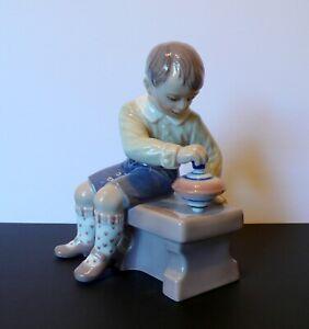 First Class Dahl Jensen Figurine Boy with Spinning Top No. 1205