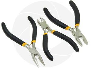 Diagonal Mini Cutting Combination Long Nose Pliers Repair Plier Tool Small Set