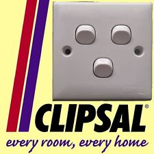 Clipsal 3 gang 1 way switch white Electrical Fan lighting accessories NEW DIY