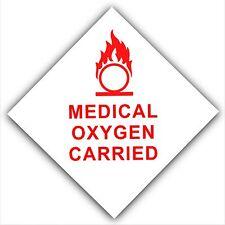 Oxígeno médico carried-car, bus, Taxi, Taxi minicab, Ambulancia sticker-safety Signo