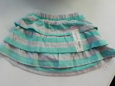 GIRLS SIZE 18 MOS JUMPING BEANS STRIPE TIERED RUFFLE SCOOTER SKIRT NWT #1428