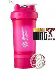 BLENDER BOTTLE PROSTAK 500ML PINK PROTEIN SHAKER CUP BPA FREE PRO STAK 16 OZ
