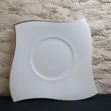 grand plat  en porcelaine villeroy et boch NEW WAVE platinium 33 cm
