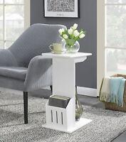 ModernEnd Table Magazine Storage Sofa Side Display Stand Wood Shelf Furniture